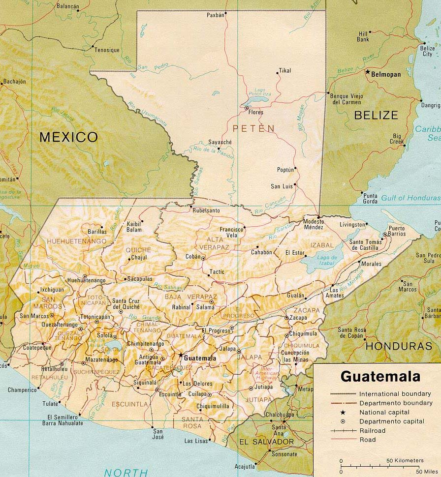 Guatemala Map Guatemala Reservations - Political map of guatemala