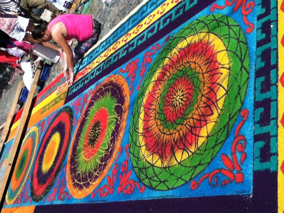 Antigua gautemala semana santa alfombra guatemala for Alfombras de antigua